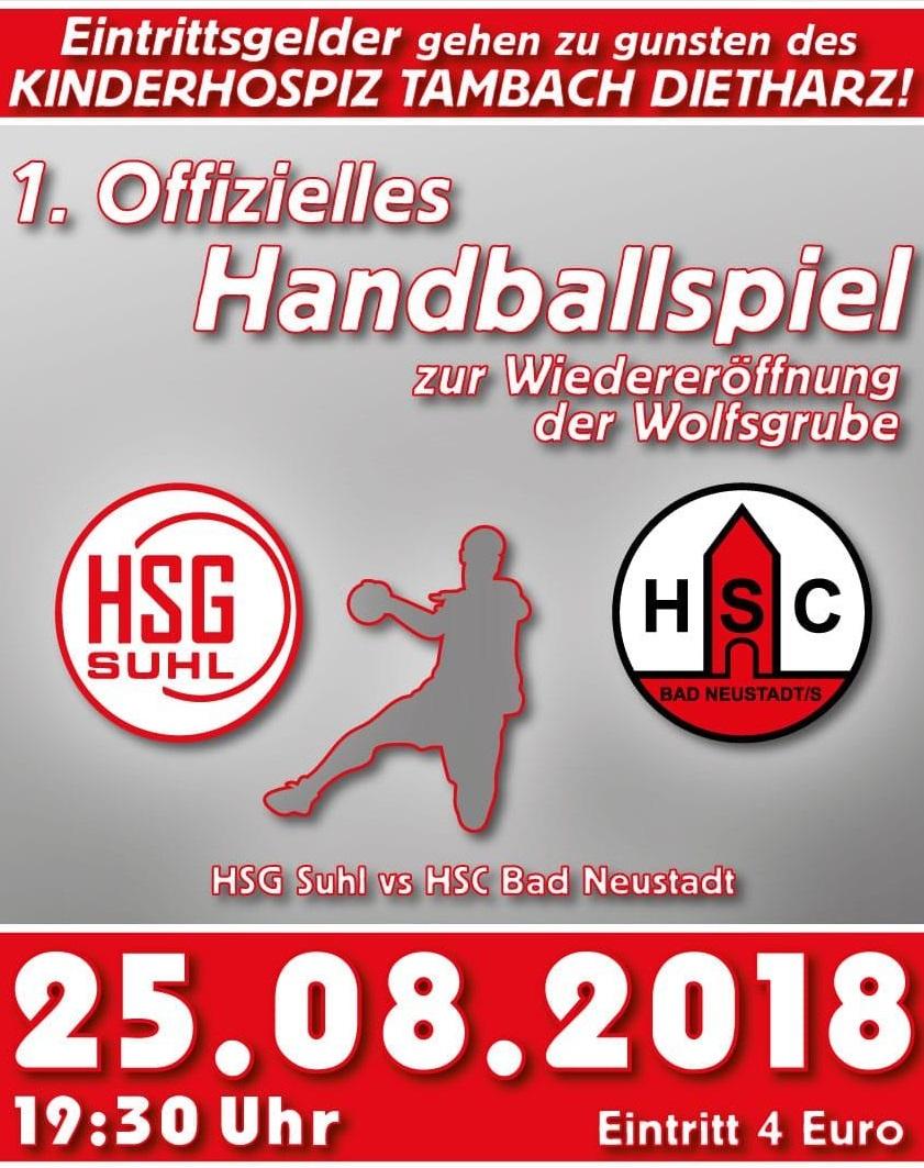 Saisoneröffnung:  SG Suhl Goldlauter empfängt HSC Bad-Neustadt in der Wolfsgrube