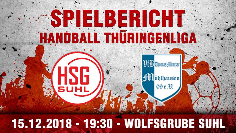 SG Suhl/Goldlauter bezwingt VfB TM Mühlhausen 09 zum Jahresabschluss
